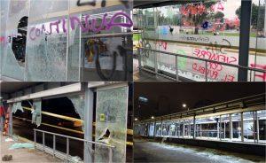 Daños a estaciones de Transmilenio